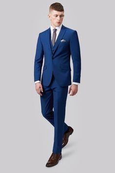 Moss London Slim Fit Bright Blue Jacket
