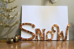 What a cool idea!  This sign has been made with pennies!  This could absolutely be re-created for different seasons or even a non-seasonally based sign.