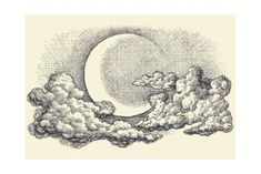 Night sky moon in the clouds hand drawing Vector Image , Night Sky Drawing, Cloud Drawing, Moon Drawing, Cloud Art, Moon Sketches, Art Drawings Sketches, Night Sky Tattoos, Night Sky Moon, Cloud Tattoo