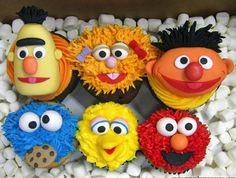 barrio sesamo cupcakes