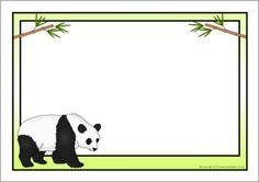 Panda A4 page borders (SB9479) - SparkleBox