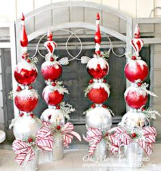 Each year, millions of Americans decorate their homes for the upcoming holiday season, namely Christmas. Are you one of those individuals? If so, which type of Christmas decorations do you plan on using? While you might not necessa Christmas Topiary, Christmas Porch, Outdoor Christmas Decorations, Christmas Centerpieces, Winter Christmas, Christmas Lights, Christmas Holidays, Christmas Wreaths, Christmas Ornaments