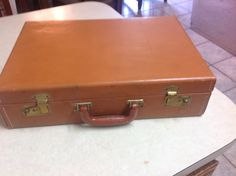 Vintage Rexfile Leather Briefcase Suitcase File by Laysdaysgoneby