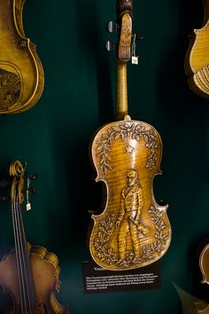 Beautifully carved Violin