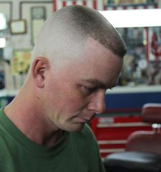 Flattop -- This haircut is on the level, man! Military Haircuts Men, Military Men, Haircuts For Men, Men's Haircuts, Bald Haircut, Short Hair Cuts, Short Hair Styles, Flat Top Haircut, Bald Fade