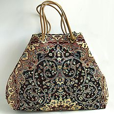 Beautiful carpet bag, made locally I would love one as an overnight bag.