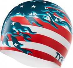 5f75bb15ab9 The TYR Wrinkle-Free Silicone Blazing Patriot Swim Cap is engineered to  provide protection from damaging chlorine and increase speed.