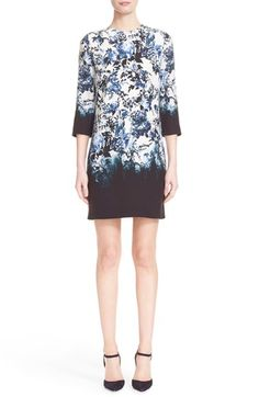 ERDEM 'Emma - Blue Hill Garden' Floral Print Silk Shift Dress. #erdem #cloth #