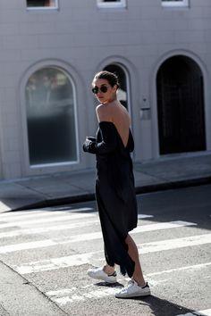 KITX navy suspended backless dress | street style | Australia Fashion Designer…