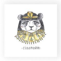 Art Print CleoPanda by OdelDrawings on Etsy