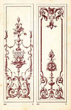 Decoration, Art Decor, Decor Ideas, Design Baroque, Antique Brass Chandelier, Wall Ornaments, Byzantine Art, Miniature Crafts, Stencil Designs