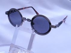 Vintage Round Steam Punk 1970s Sunglass by HappyMemoriesVintage