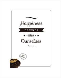 Happiness Depends Upon Ourselves -Aristotle Well, bunnies can never hurt. $12.50 Elementem Photography, canvas, available in 2 sizes, quotes, home decor, white background, rabbit, bunny, sombrero, motivation, Aristotle, destiny, sales
