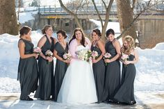 @gennafreed's Wedding To Do's: Infinity Dresses. Bridesmaids in Sakura Maxi Convertible Dresses in Charcoal Grey