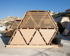 Temporary Pallet Hexa Structures