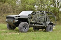 General Motors Defense presents a troop transporter based on the rugged Chevy Colorado pickup. It's got an open air design with a roll cage, secure 6x6 Truck, Gmc Trucks, Pickup Trucks, Lifted Trucks, General Motors, Jeep Willys, Pearl Harbor, Mad Max, Hummer