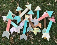 Bright colorful arrows make me-oh-so happy! These arrows and more are listed in my etsy shop. This is my last re-stock for the year! by justaddsunshineinc