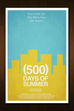 500 Days of Summer Minimal Movie Poster - 11x17 by Nick Morrison