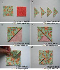 立体折花正方形F