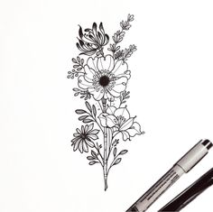 Half sleeve flower tattoo, flower tattoos, cute tattoos, new tattoo Kunst Tattoos, Body Art Tattoos, New Tattoos, Tattoo Drawings, Sleeve Tattoos, Calf Sleeve Tattoo, Inner Wrist Tattoos, Tatoos, Calf Tattoos