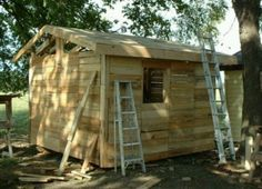 Step by Step Picture Tutorial on How To Make a CHICKEN COOP out of Pallets