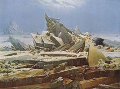Caspar David Friedrich, was one of the most important German artists. Find out this 10 things you probably didn't know about Caspar David Friedrich. Painting Snow, Winter Painting, Perspective Atmosphérique, Caspar David Friedrich Paintings, Casper David, Art Romantique, Greenland Travel, Greenland Food, Art Occidental