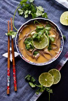 Thai Coconut Chicken Noodle Soup