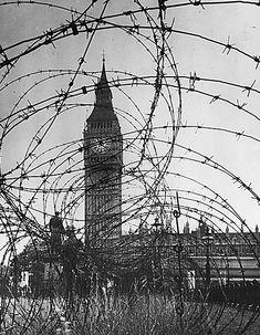 Big Ben during WWII.