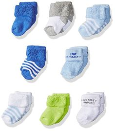 N/'Ice Caps Girls and Baby Cotton//Spandex Casual Crew Gripper Socks 6 Pair P...