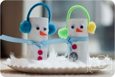 christmas: toilet paper roll snowman craft