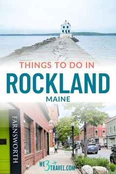 If you are planning a Maine vacation and stopping on Maine's Midcoast, be sure to check out these fun things to do in Rockland Maine -- a true New England road trip gem! Rockland Maine, Outdoor Outfitters, Waterfront Restaurant, New England Travel, Harbor View, Summer Travel, New Hampshire, Day Trip, Travel Ideas