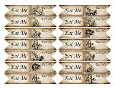 alice in wonderland eat me cupcakes Eat me cupcake flag. Alice in Wonderland cupcake printable flag . Alice In Wonderland Printables, Alice In Wonderland Cupcakes, Alice In Wonderland Tea Party, Cupcake Flags, Alice Tea Party, Tea Party Flag, Mad Hatter Tea, Mad Hatters, Printable Tags