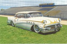 Gary Niemie's Larry Watson painted Buick, with Photoshop enhancements to lay it in the weeds. Rat Rods, Classic Hot Rod, Classic Cars, Muscle Cars, Vintage Cars, Antique Cars, 1956 Buick, Sweet Cars, Street Rods