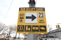 Occupy Sandy wayfinding sign