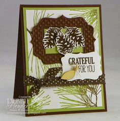 First Friday PDF of the Month on my blog today. Stampin' Up! Ornamental Pine. Debbie Henderson, Debbie's Designs.