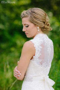 Wedding Dress | PERFECTLY PINK RUSTIC BARN WEDDING | Elegant Wedding