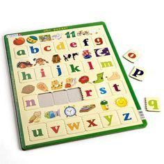 ABC puzzel - leerpuzzel - Spelenderwijs kan je kind met deze leerzame zelfcorrigerende puzzel het alfabet leren, door bij de afbeeldingen de juiste beginletters te leggen.
