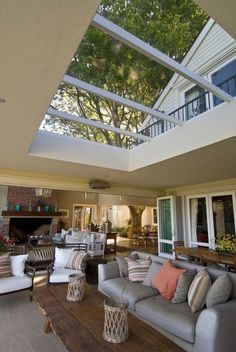 big skylights, this is my perfect living room