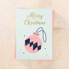 Merry Christmas printable card  Scandinavian par BureauMarmoset