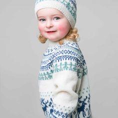 Genser og lue - Viking of Norway Alpacas, Vikings, Norway, Leo, Crochet Hats, Beanie, Knitting, Children, Fair Isles