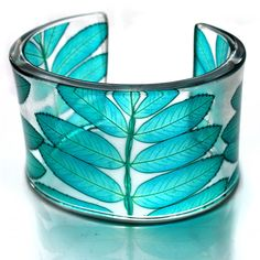 teal, green, acrylic, contemporary jewellery sue gregor, floral, botanical, Rowan, gift for wife,