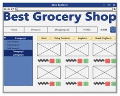 Grocery E-shop Model (Example Project) Web Explorer, Use Case, User Interface Design, Wireframe, Bar Chart, Software, Diagram, Projects, Model