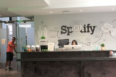Using illustrations in interior design at the Spotify office  Spotify-1.jpg (800×533)
