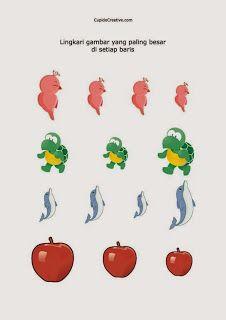permainan anak balita/TK, mengukur gambar paling besar atau paling kecil