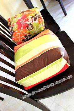 DIY booster seats made from vinyl table cloths