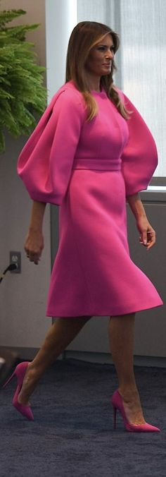 First Lady Melanie Trump in Delpozo