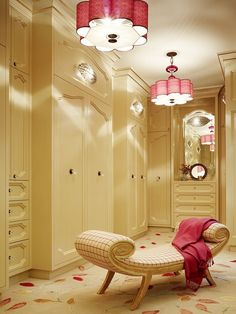 Great lighting for a walk-in closet.