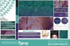 Mermaid Gypsy Website/Blog Kit by Coral Antler Creative on Creative Market