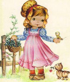 Cards Happy Birthday 2   Открытки - поздравления С днем рождения и днем ангела (200 работ) Vintage Children's Books, Vintage Cards, Vintage Postcards, Cute Images, Cute Pictures, Meninos Country, Sarah Key, Art Mignon, Decoupage Vintage