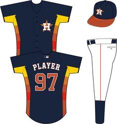 Houston Astros Alternate Uniform (2013) - H-star logo on the left chest 5d67e643d